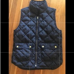 J crew Sz medium down Quilted puffer vest